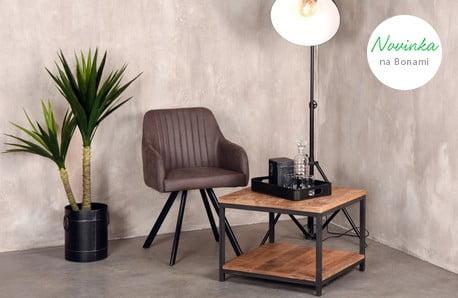 Moderný nábytok z exotických drevín a kovu