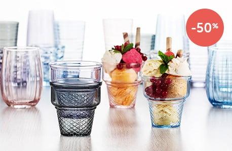 Nádherné kolekcie skleneného riadu