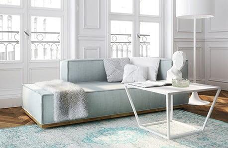 Jedáleň, obývačka aj spálňa v scandi štýle