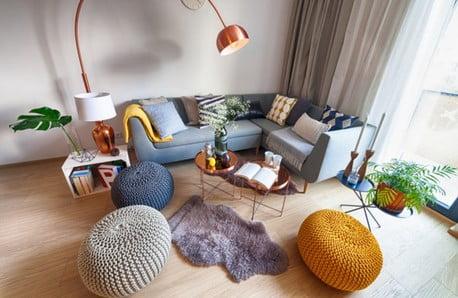 Jemné farby, dizajnová čistota a netradičné materiály