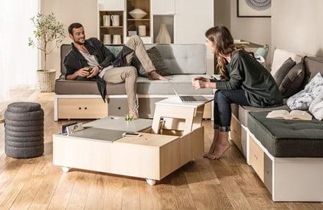 Praktické úložné priestory, rozkladací nábytok a ďalšie šikovné kúsky