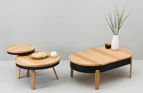 Moderný nábytok z prírodných materiálov