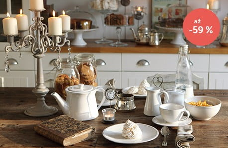 Kuchynská výbava s vintage nádychom
