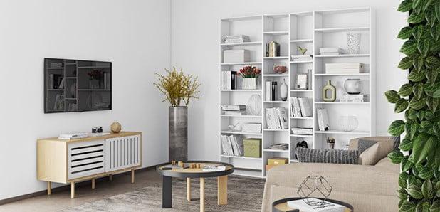 Malé aj veľké knižnice a poličky do každej miestnosti