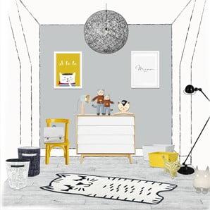 Hravé koberce, nábytok a osvetlenie