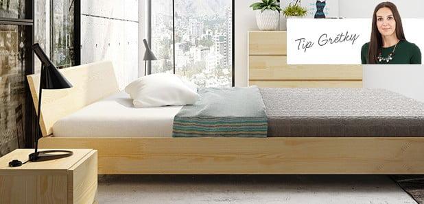 Spálňa voňajúca masívnym drevom