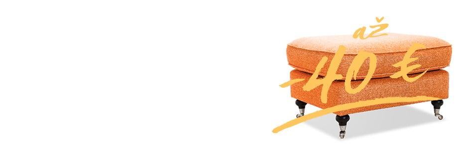 Podnožky a taburetky v odľahčených cenách