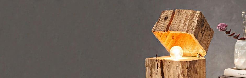 Almleuchten, svetlá z recyklovaných trámov