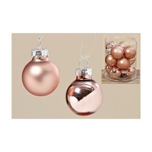Sada 12 ks vianočných gulí Copper Ball