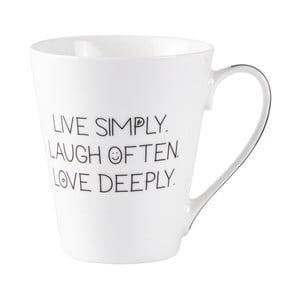Porcelánový hrnček KJ Collection Live Laugh Love