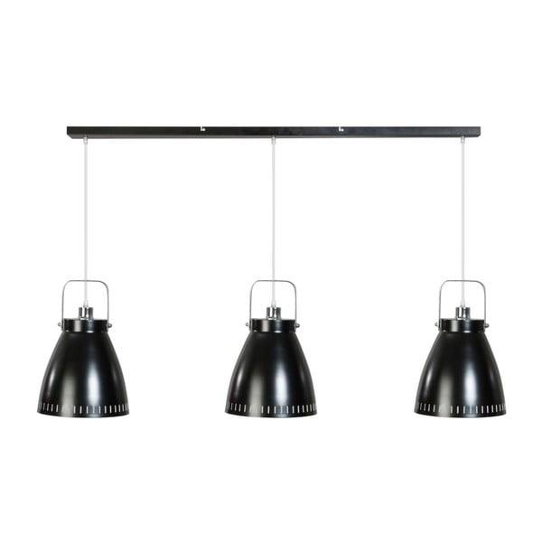 Čierne trojité stropné svietidlo ETH Acate