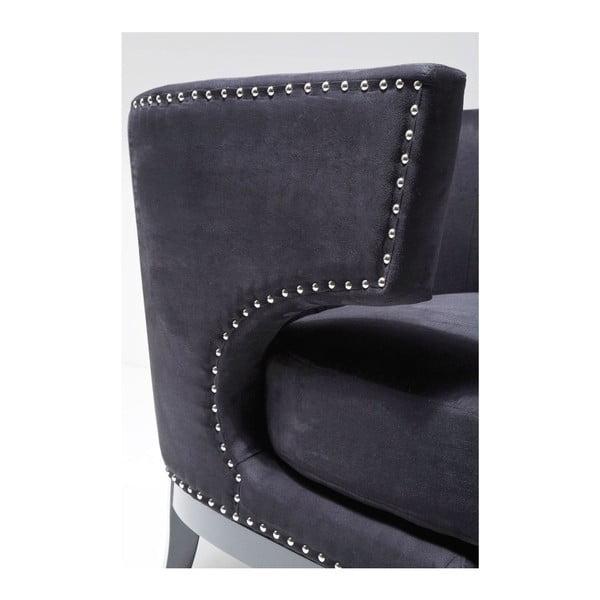 Čierne kreslo Kare Design Art Deco