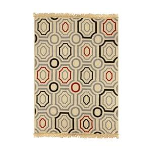 Modro-béžový koberec Ya Rugs ZigZag, 120x180cm