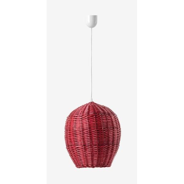 Stropné svetlo Egg, 28 cm, červené