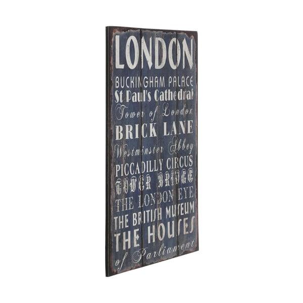Drevený obraz London, 25x38 cm