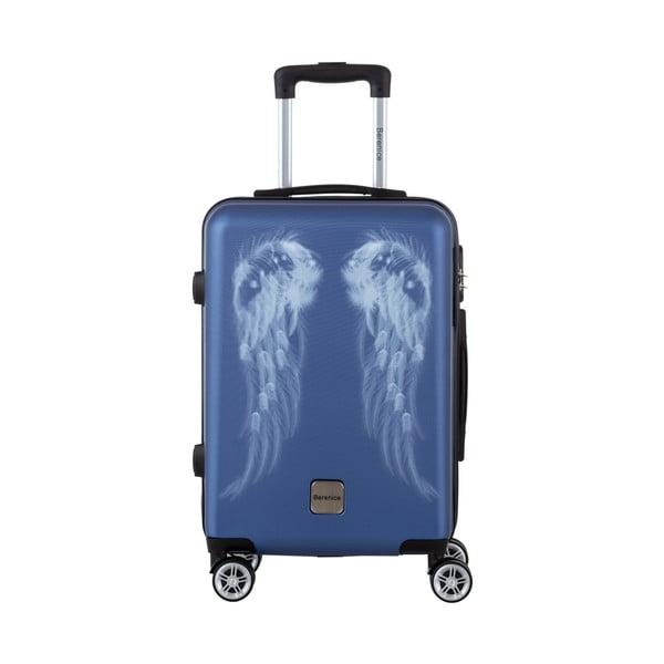 Modrý cestovný kufor Berenice Wings, 44 l