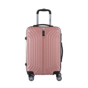 Svetloružový cestovný kufor na kolieskách s kódovým zámkom SINEQUANONE Rozalina, 44 l