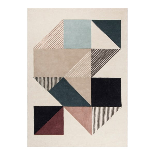 Ručne vyšívaný koberec Linie Design Mikill Mixed, 170 x 240 cm