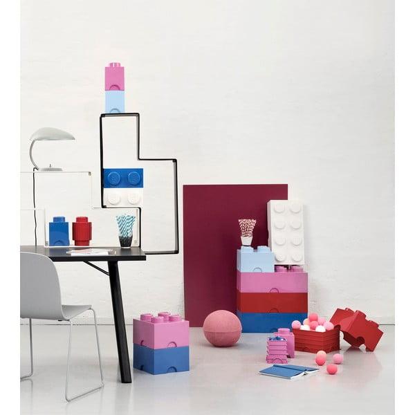 Úložný box LEGO, ružový
