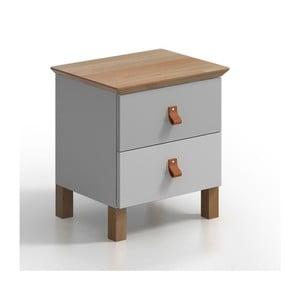 Nočný stolík s 2 zásuvkami SKANDICA Vaxholm