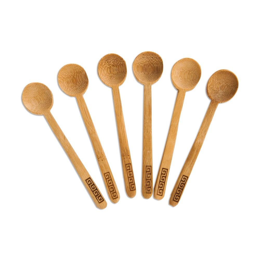Sada 6 čajových lyžičiek z bambusového dreva Bambum