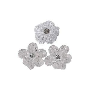 Sada 3 dekoratívnych kvetín Grey