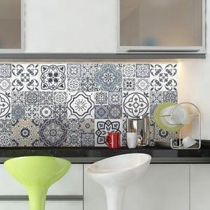Sada 60 nástenných samolepiek Ambiance Wall Decal Cement Tiles Milonga, 15×15 cm
