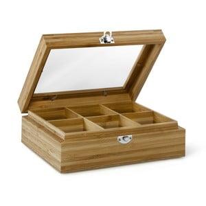 Bambusová krabička na čaj so 6 priehradkami Bredemeijer
