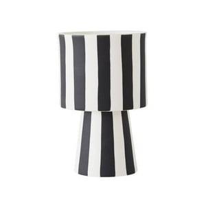 Čierno-biela keramická váza OYOY Toppu, ⌀ 10 cm