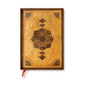Nelinkovaný zápisník s mäkkou väzbou Paperblanks Safavid, 13 x 18 cm