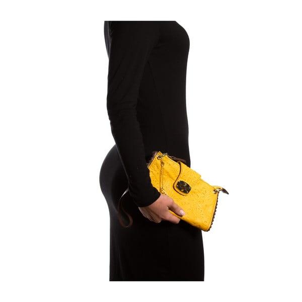 Kožená listová kabelka Isabella Rhea 2024, žltá