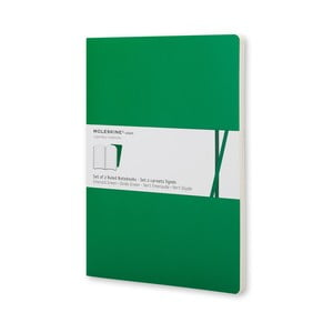 Smaragdovo zelený zápisník Moleskine Voilant, linajkový