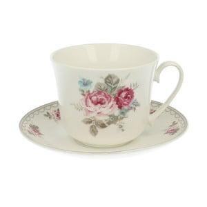 Porcelánový hrnček s tanierikom Roses