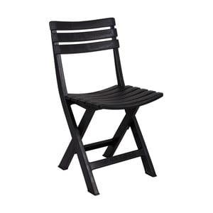 Čierna záhradná skladacia stolička Crido Consulting Marella