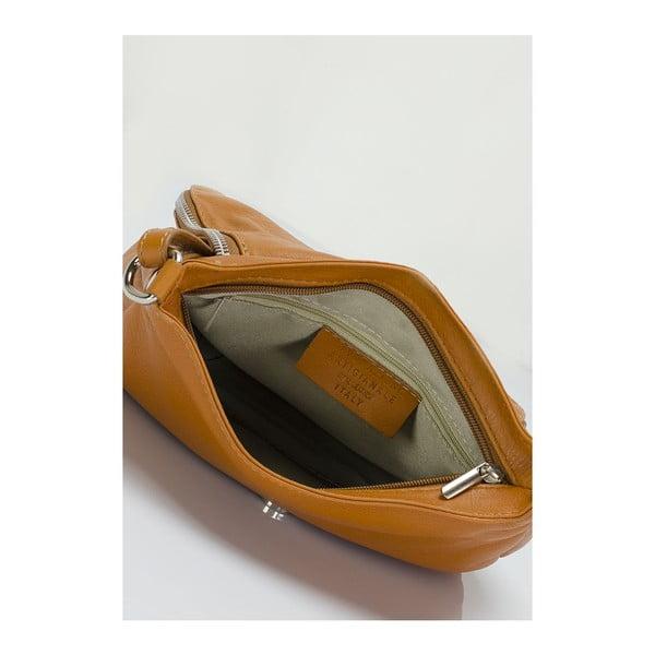 Kožená kabelka Markese 6949 Cognac