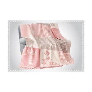 Deka s prímesou bavlny Aksu Rene, 220 × 180 cm