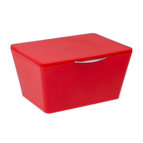 Červený kúpeľňový úložný box Wenko Brasil
