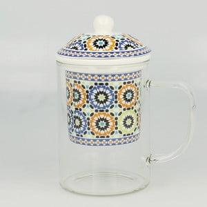 Sklenený hrnček so sitkom Maroko A, 450 ml