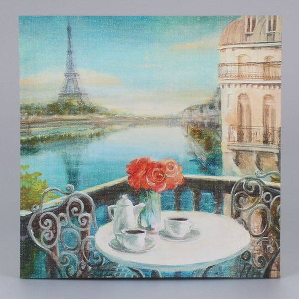 Obraz na plátne Paris Coffee, 38 x 38 cm