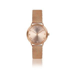 Dámske hodinky s remienkom z antikoro ocele vo farbe ružového zlata Frederic Graff Mandy