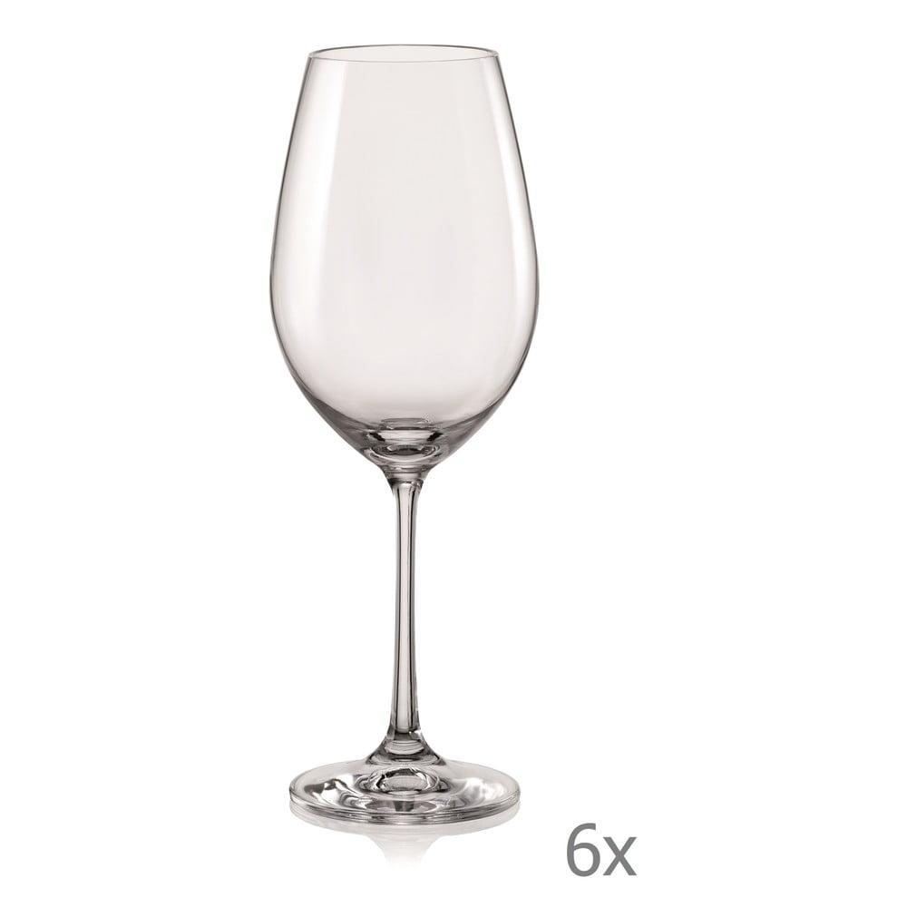 Súprava 6 pohárov na víno Crystalex Viola, 350 ml