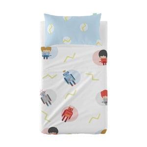 Set plachty a obliečky na vankúš z čistej bavlny Happynois Beep, 100×130 cm
