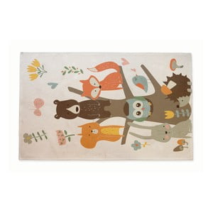 Bavlnený koberček Little Nice Things Owl Tree, 140 x 90 cm