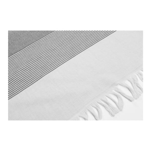 Hammam osuška Loincloth Line Black, 80x170 cm