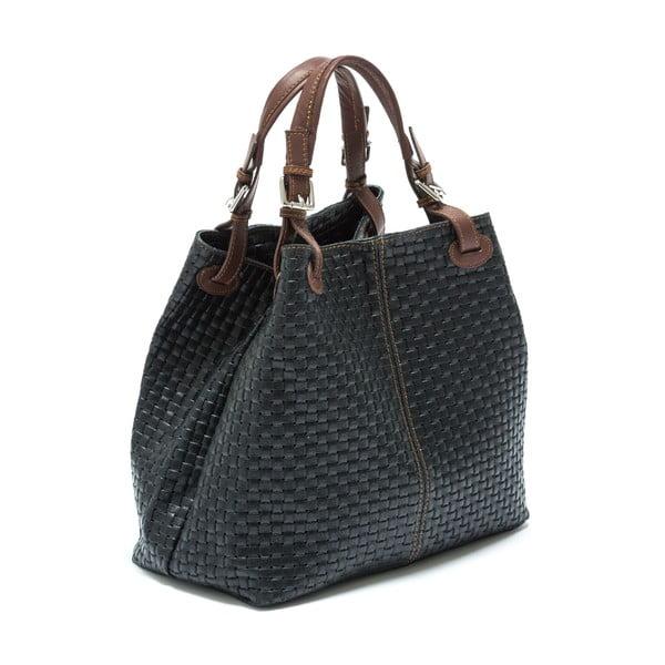 Čierna kožená kabelka  Isabella Rhea no. 858