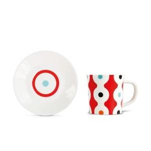 Hrnček na espresso s tanierikom Remember Dots
