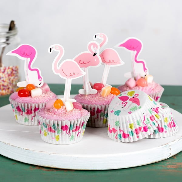 Set na zdobenie cupcakes Rex London Flamingo Bay