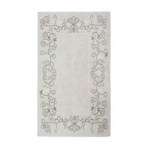 Krémový bavlnený koberec Floorist Floral, 100x200cm