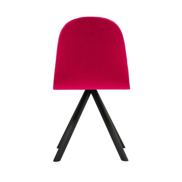 Ružová stolička s čiernymi nohami IKER Mannequin Triangle