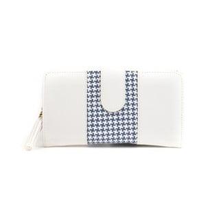 Biela peňaženka s modrým detailom Mangotti Bags Ophelia